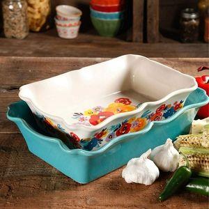 The Pioneer Woman Ceramic Bakeware Set